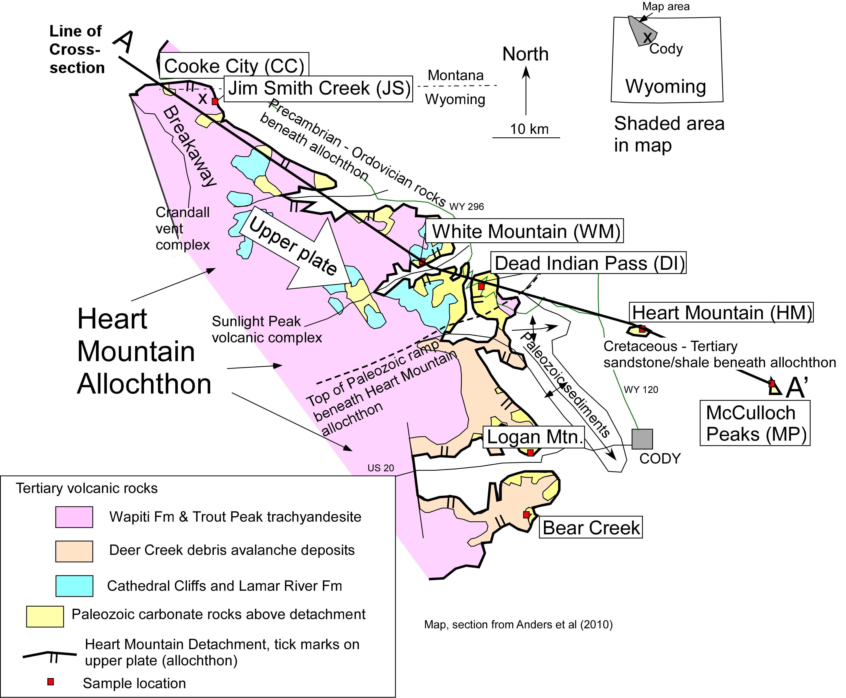 Kirwin Wyoming Map.Kirwin Geology Of Wyoming